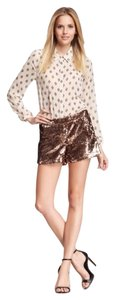 Julie Brown Sequin Gold Night Out Dress Shorts Champagne