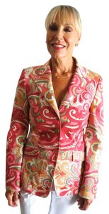 Heavy Cotton Multicolored Paisley Jacket