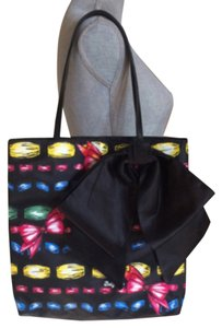 Brighton Bow Large Tote in Black Red Yellow