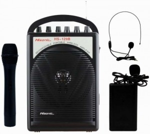 Black Portable Wireless Mic & Amplifier