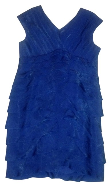 A beautiful dress w/ jacket by Coldwater Creek size It is lined and dress has rear zipper, jacket has rhinestone clasp. It is 55% nylonnn and 45% polyester to look like silk.