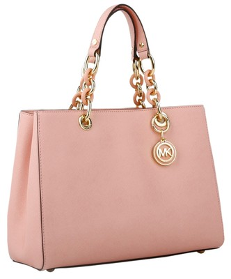 michael kors cynthia saffiano leather medium tote nwt pale pink gold hardware satchel on sale. Black Bedroom Furniture Sets. Home Design Ideas