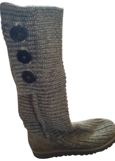 Preload https://img-static.tradesy.com/item/128594/ugg-australia-grey-classic-cardy-bootsbooties-size-us-8-0-0-540-540.jpg