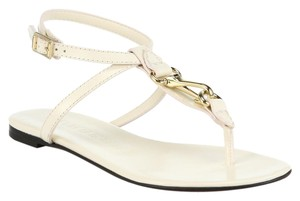 Burberry Reason Leather Thong Horsebit cream Sandals
