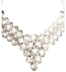 Other Elegant Royal White Topaz 925 Sterling Silver Statement Necklace