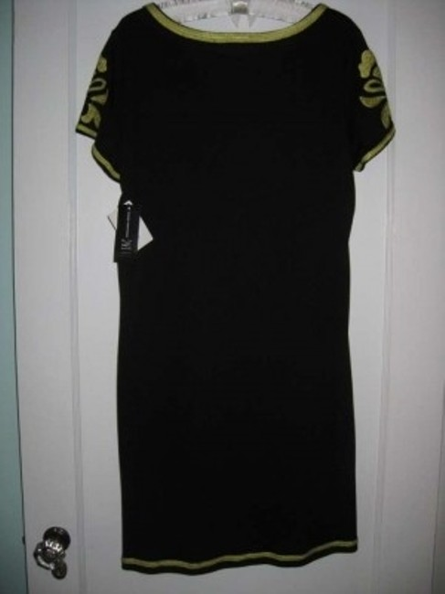 INC International Concepts short dress Black with Lime Green on Tradesy