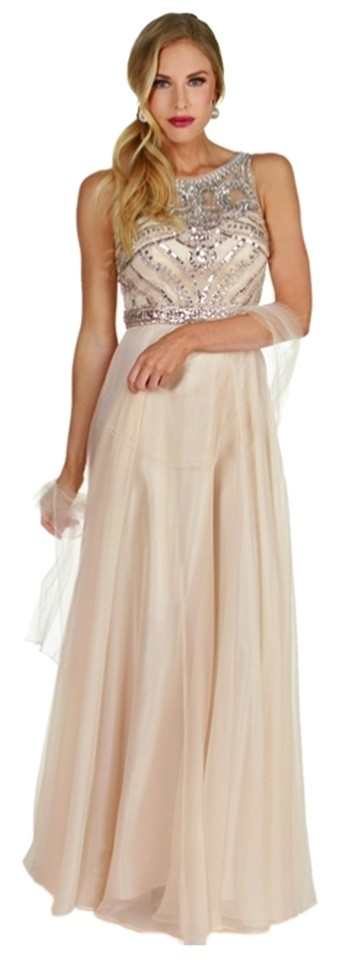 Windsor Beige Andrea-champagne Chiffon Prom Homecoming Gown with ...