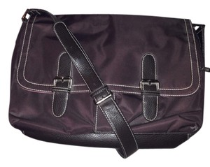 Liz Claiborne Brown and pink Messenger Bag