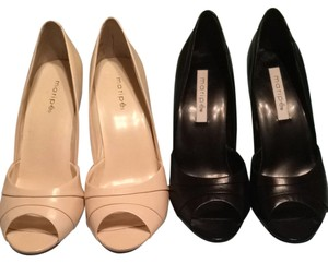 Maripé Beige and Black Pumps