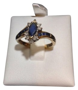 Other 10K YELLOW GOLD WITH SAPPHIRE AND DIAMOND STONE