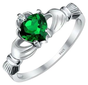 Other BNWOT ~ Emerald Claddagh and CZ Gemstone Ring, Size 7