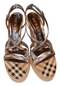 Burberry Silver Wedges