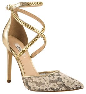 Guess Pointytoe Sophistication Lace Gold Formal