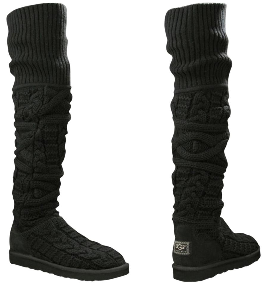 6bb2882487a UGG Australia Over The Knee Twisted Cable Knit New Boots/Booties Size US 7  Regular (M, B) 57% off retail