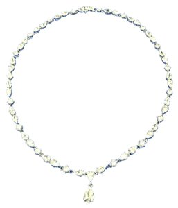 Charles Winston Charles Winston CZ Diamond and Sterling Necklace