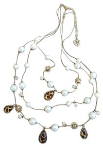 Betsey Johnson BETSEY JOHNSON Leopard, Rose, & Pearl Necklace