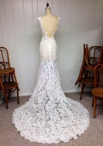 Size 14/16 All Lace Sexy Low Back Long Train Wedding Dress