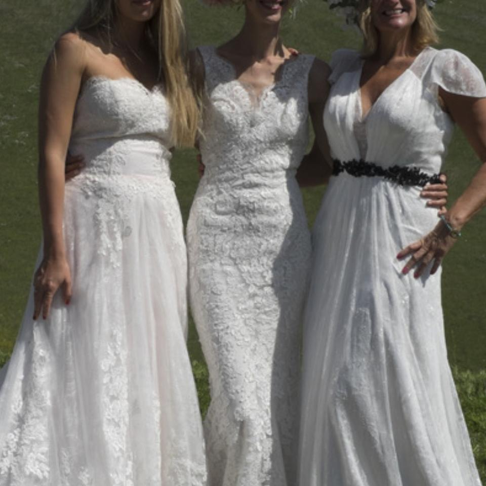 All Lace Wedding Gowns: All Lace Sexy Deep Low Back Tank V Neckline Overlay Sz 6/8