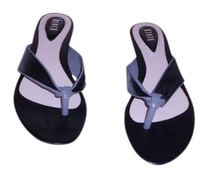 Bloch Sadiya Soft Leather Comfortable Footbed Stylish Black/Grey Sandals