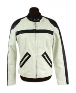 Monks, Italia Moto Leather Sport Racing Striped Motorcycle Jacket