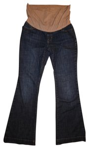 Gap Stretchy Faded Paneled Maternity Flare Jeans