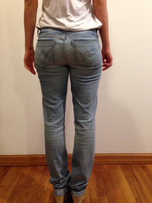 Citizens of Humanity Soft Mildly Pale Straight Leg Jeans-Light Wash