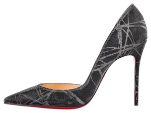 Christian Louboutin Brand New In Box BLACK/ SILVER Pumps