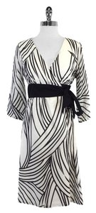 Tibi short dress Black White Striped on Tradesy