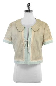 Burberry Beige Sky Blue Cotton Lace Jacket