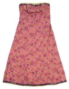 Cynthia Steffe short dress Pink Floral Embroidered Strapless on Tradesy