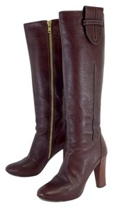 Chloé Brown Leather Tall Boots