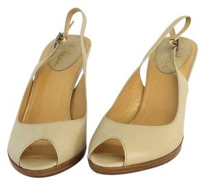Cole Haan Beige Textured Leather Sandals