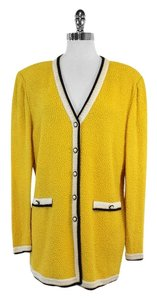 St. John Yellow Knit Cardigan