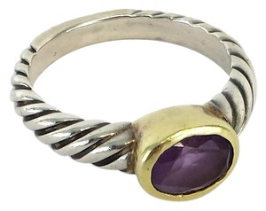 David Yurman David Yurman Purple & Gold Gemstone Ring