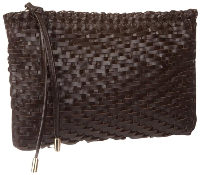 Item - Clutch Piper Woven Convertible T'moro Brown Leather Cross Body Bag