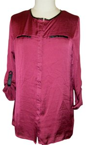 New York & Company Top SZ PL BURGUNDY