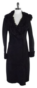 Elie Tahari Black Shearling Coat