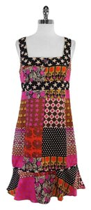 Nanette Lepore short dress Multi Color Patchwork Silk on Tradesy
