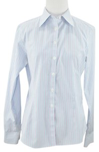 Brooks Brothers Fitted Noniron Button Down Shirt pinstriped