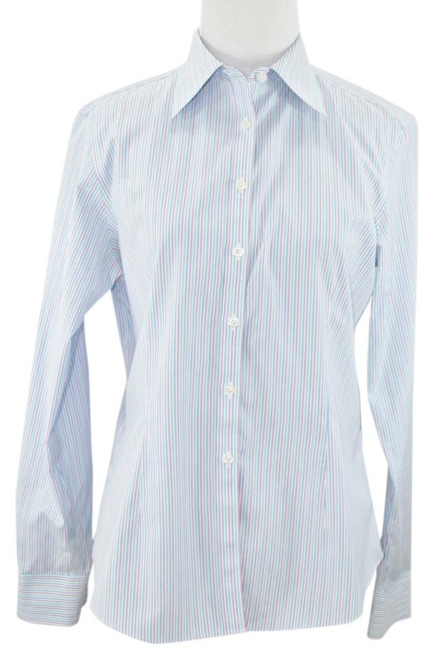 Brooks brothers pinstriped fitted non iron dress shirt sz for Brooks brothers non iron shirt review