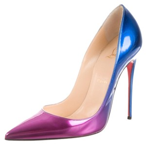 Christian Louboutin Ombre Patent Leather Stiletto Purple, Pink, Blue Pumps