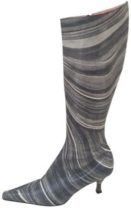 Paul Smith Leather Grey Swirl Boots