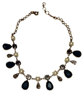 J.Crew J.Crew Green, Pearl & Crystal Necklace