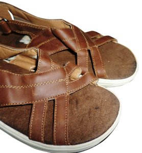 Island Surf Sport Sporty Water-resistant lanai brown wedge Wedges