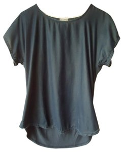 Anthropologie Dolan Left Coast Gray Velvet T Shirt