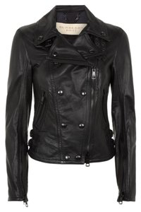 Burberry Moto Biker Leather Lambskin Motorcycle Jacket