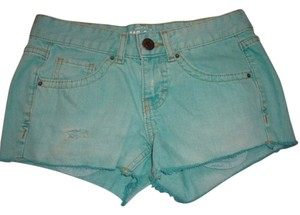 Mossimo Mint Denim Size 1 New Cut Off Shorts green