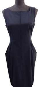 Elie Tahari Navy Cotton Size 4 Dress