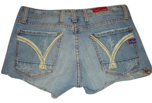 Vigoss Adriana Size 29 Denim Jeans Cut Off Shorts blue