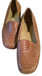 Trotters Leather 7.5 Weave Brown Tan Flats